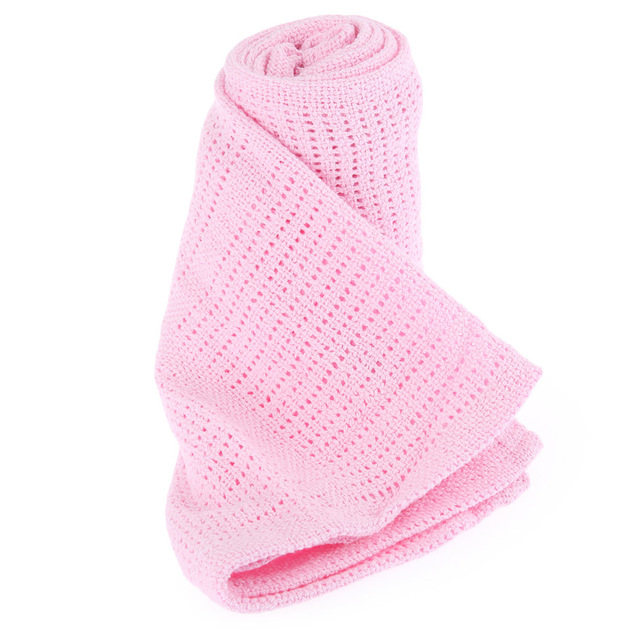 Супер Мягкие одеяла Теплый Дышащий Хлопок Крючком новорожденного Одеяла Постельные Принадлежности одеяло