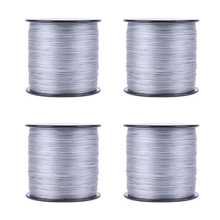 500M PE Weaving Strong Line 8 Strands Multifilament Wide Sea Braided Fishing Line Gray 2.5/3.0/4.0/5.0/6.0/8.0 Fishing Supplies