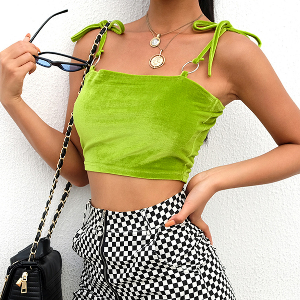 Muqgew Camis Vest Sexy Women V-neck Bandage Shirt Front Strappy Tank Top Vest Summer Streetwear Shirts Ropa Verano Mujer 2019 Tops & Tees Women's Clothing