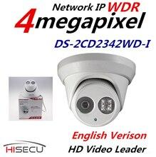Nueva Versión Inglés V5.3.3 Multi Idioma Cámara Domo de INFRARROJOS IP Cámara de 4.0 megapíxeles Cámara IP Al Aire Libre DS-2CD2342WD-I