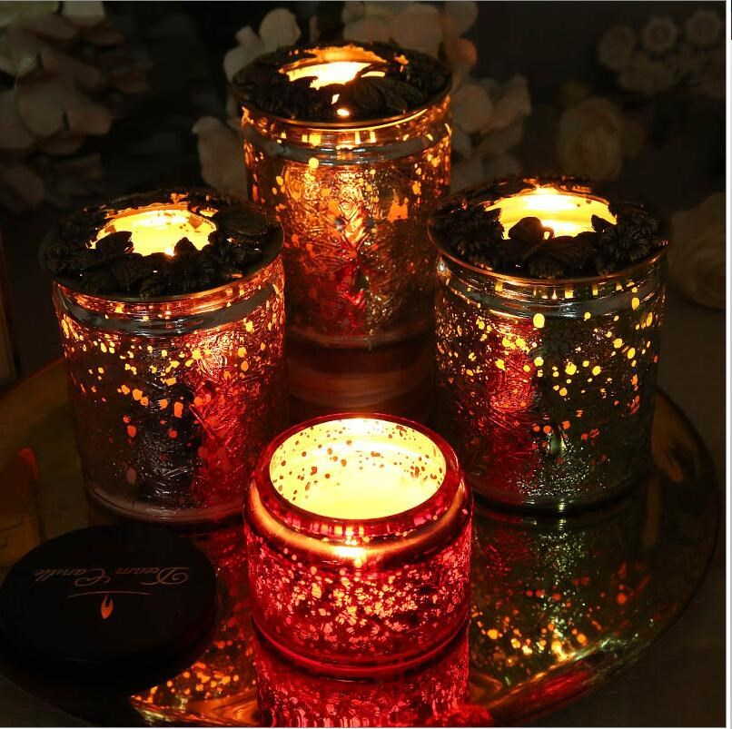 Iron art Candle cover Heat-resistant anti-wall (Apply to Yankee Candle VOLUSPA scented candle) Exquisite metal cover inner cover