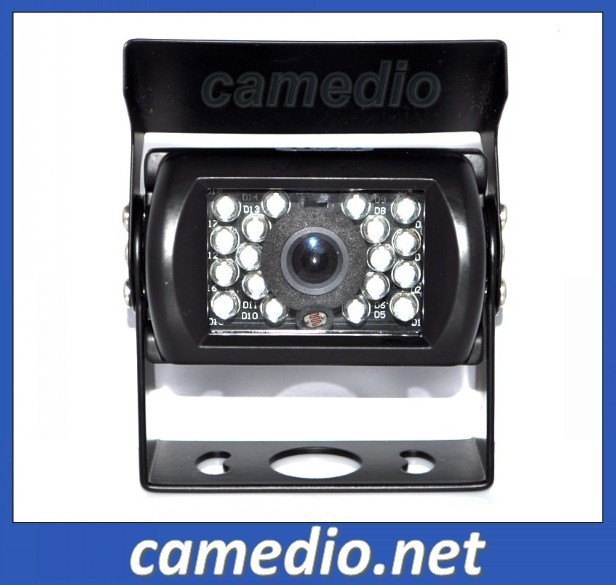 free shipping Sharp CCD  waterproof  night vision  parking bus truck  rear view camera  12-24V for heavy duty