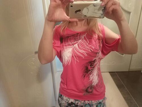 HTB17oZLRVXXXXaFapXXq6xXFXXXc - Summer Women Feather Printed T-shirts O- neck Strapless Shirts Off Shoulder