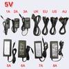 DC alimentation LED alimentation chargeur transformateur adaptateur 5 V 1A-12A interrupteur pour RGB LED bande 5630 5050 3528 EU US AU UK cordon prise