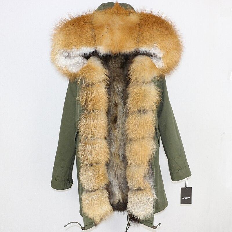 OFTBUY 2019 Winter Jacket Women Long Parka Real Fox Fur Coat Natural Raccoon Fur Collar Hood Thick Warm Streetwear Parkas New 79