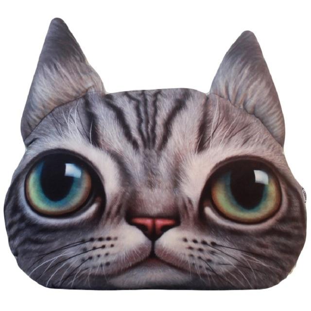 3d cute animal cat emoji office car nap pillow cushion sofa decorative cartoon pillows plush toys