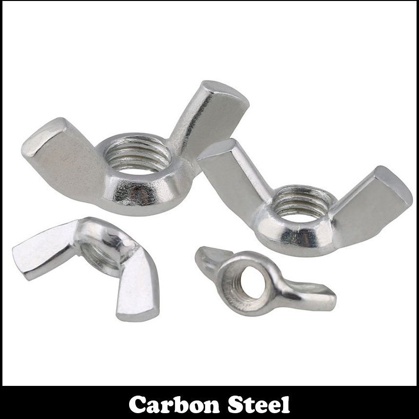 20Pcs 1/4 1/4 Inch 1/4-20 Zinc Plated Carbon Steel UK Standard British Form BSW Hand Twist Claw Butterfly Thumb Wing Nut цена