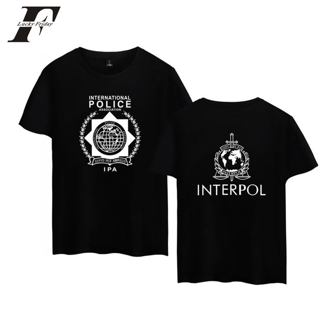 641419b508a96 LUCKYFRIDAYF 2017 INTERPOL Punk Band Hip Hop Cool Men women Top Short  Sleeve Cotton T