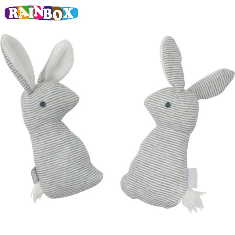 RAINBOX Baby Rattle font b Toys b font BB Sound Lovely Rabbit Kids Stuffed Appease font