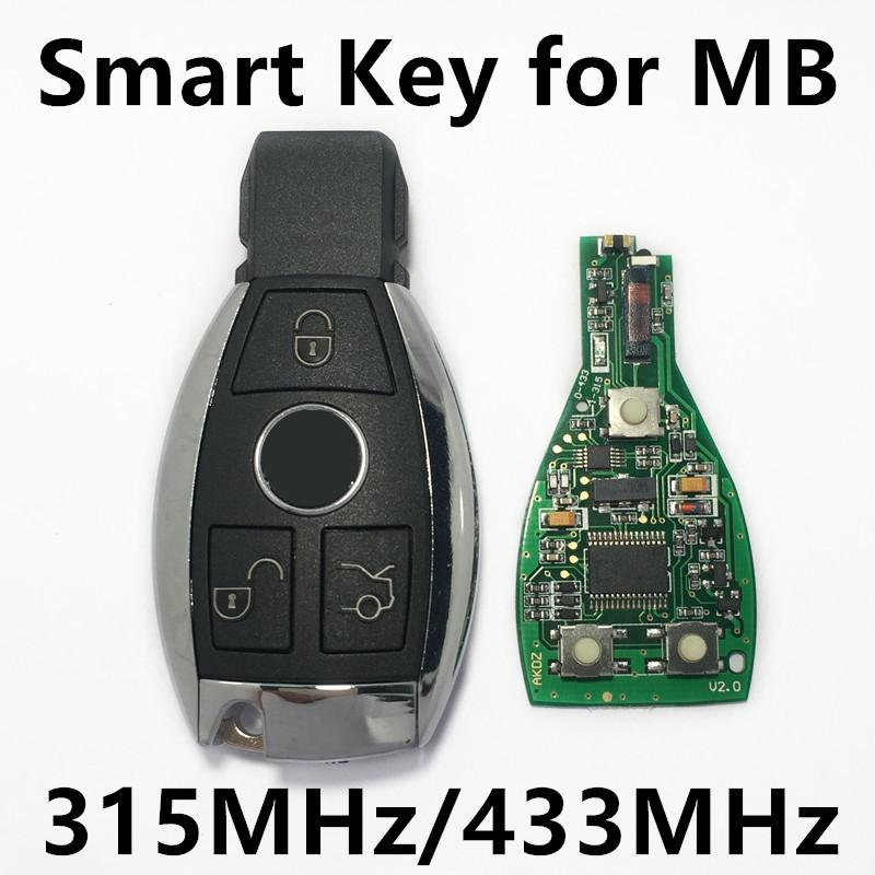 Prix pour 3 Boutons Smart Key Remote Pour Mercedes Benz année 2000 + NEC et BGA style Auto Télécommande Clé 315 MHz/433 MHz