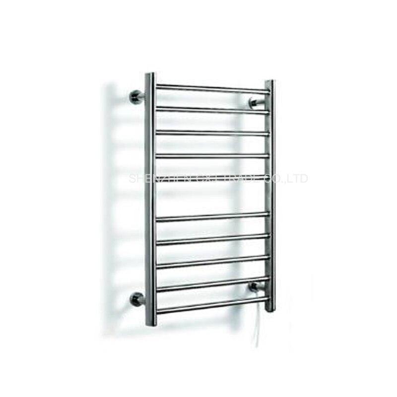 Braddan Stainless Steel Heated Towel Rail Warmer: 4pcs Heated Towel Rail Holder Bathroom AccessoriesTowel