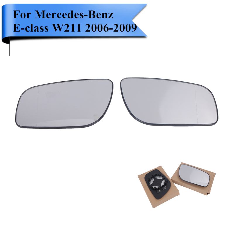 2x Car Side Heating Mirror Glass For Mercedes Benz E-Class W211 Wagon E300 E320 E350 E500 E550 E63 AMG 2006 2007 2008 2009 #W111