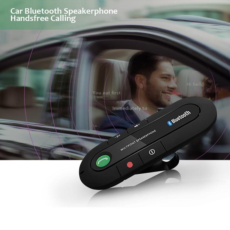 Handsfree Bluetooth Car Kit Wireless Bluetooth Speaker Phone MP3 Music Player Car MP3 Player Bluetooth FM Transmitter USB Player hk009 wireless bluetooth 4 0 handsfree car speaker black