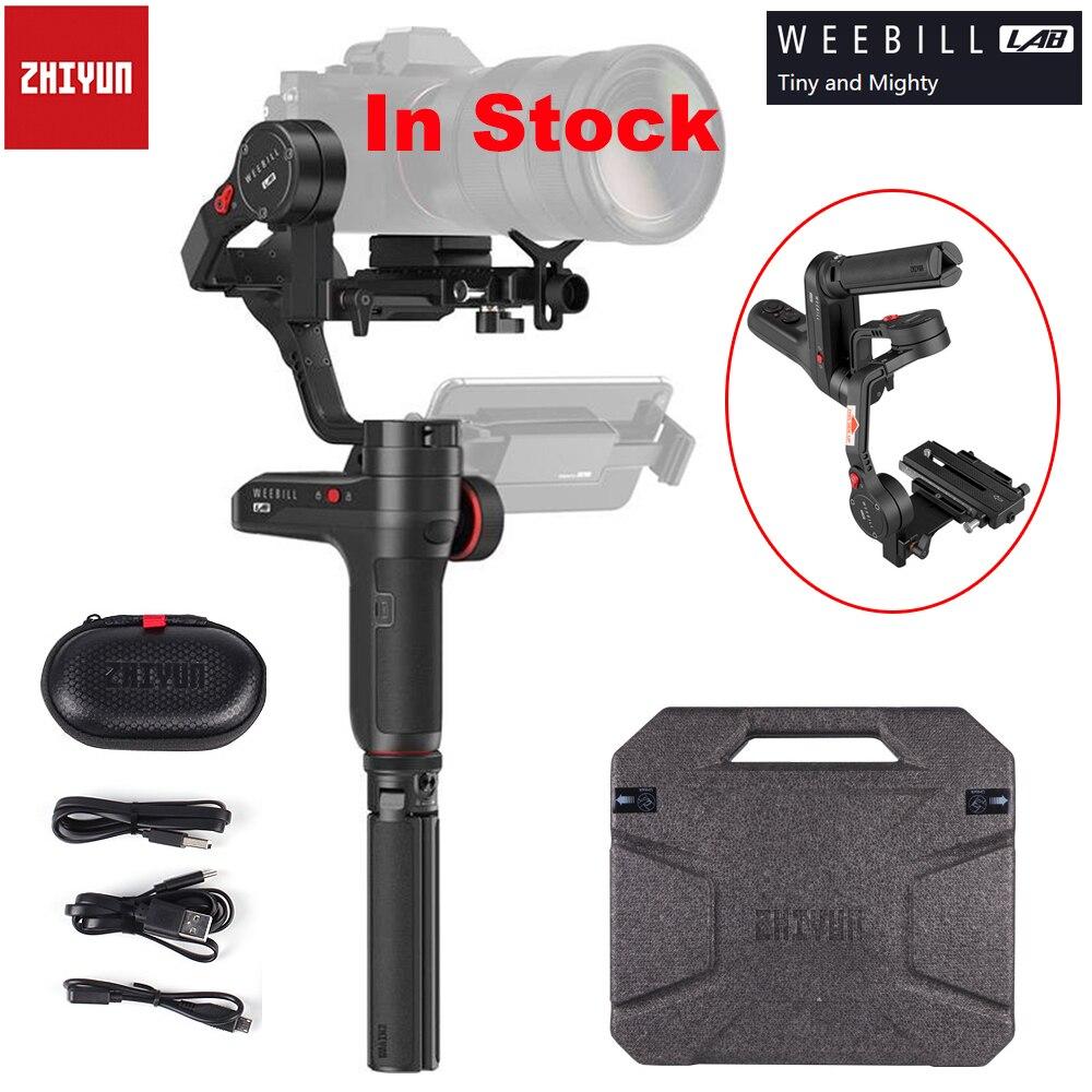 В наличии Zhiyun Weebill лаборатории 3 оси Беспроводной изображения коробка Камера стабилизатор для беззеркальной камеры OLED Дисплей ручной карда...