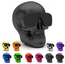 Sans fil Portable Bluetooth Haut-parleurs Squelette Tête Crâne Stéréo Super Bass Subwoofer Salut-fi Haut-Parleur Creative cadeau Pour Téléphone Intelligent