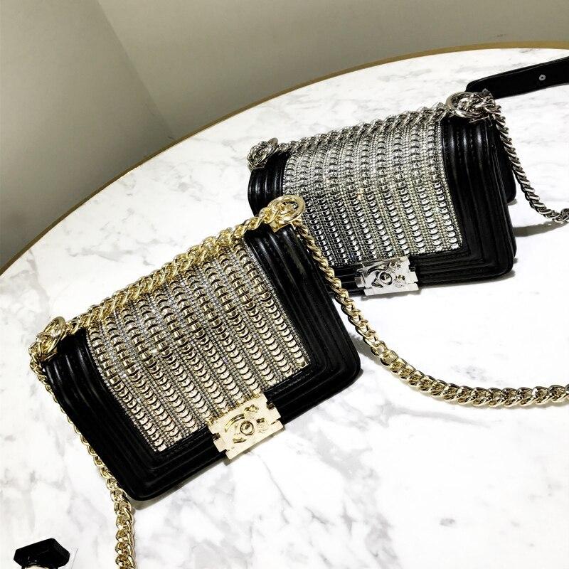 Style En Cuir Cru Messager D'épaule Sacs pour Femmes De Mode Lady Mini Fourre-Tout Bandoulière Sacs À Main Sac à Main canal Sac