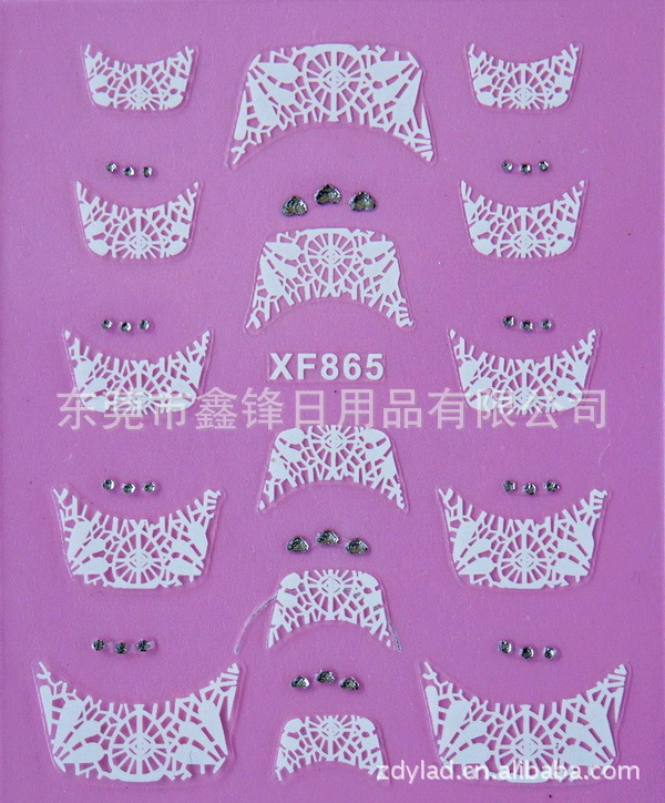 fashion French style Crystal Water Transfer font b Nails b font Art Sticker decals lady women