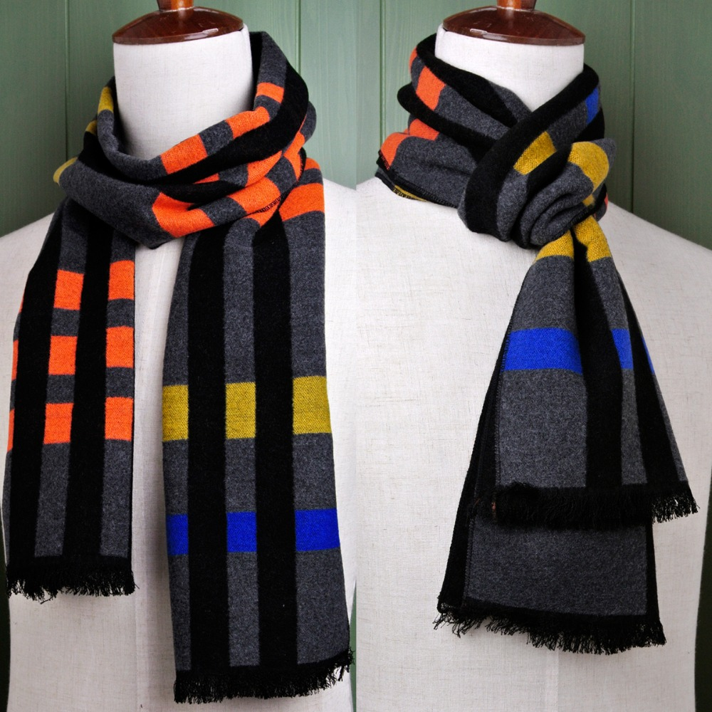 Brand New Checked Men And Women Scarf Cashmere Tassel Wrap Unisex Winter Multicolor Scarves Trendy Present Free Shipping