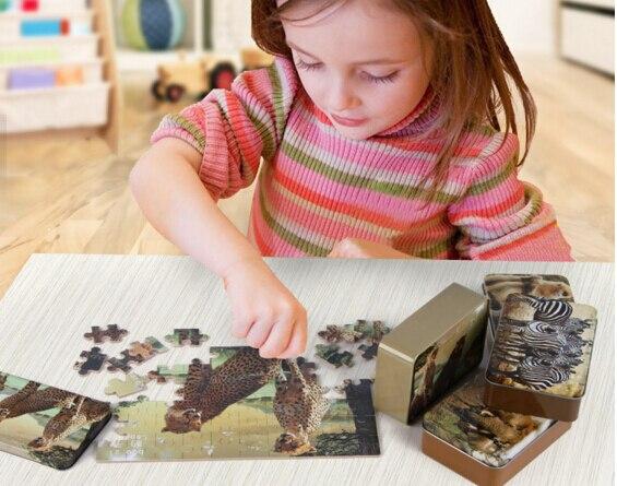 60 шт./компл. животных деревянные головоломки Игрушечные лошадки для детей Высокое качество Игрушки для маленьких детей образования железны...