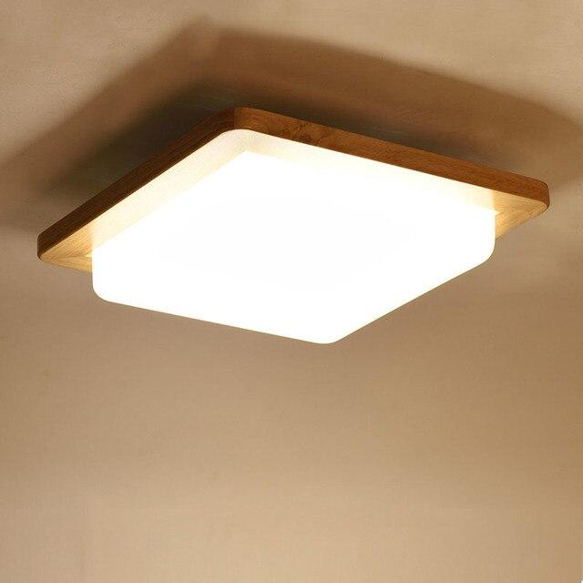 Japanese Warm White Led Wood Ceiling Lights Modern Acrylic