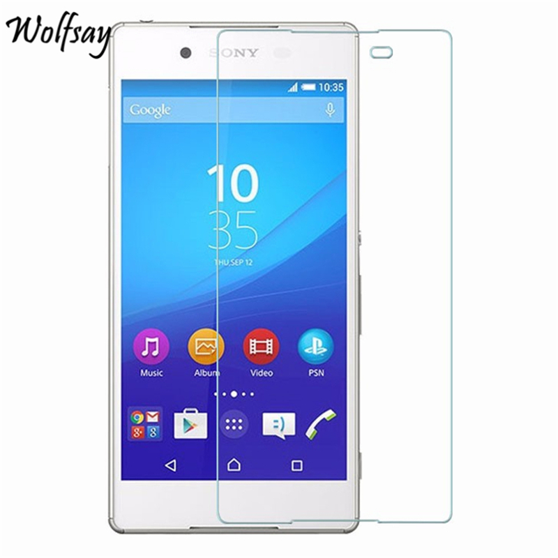 2pcs For Glass Sony Xperia Z4 Tempered Glass For Sony Xperia Z4 Screen Protector For Sony Z4 Protective Film E6533 E6553 Wolfsay
