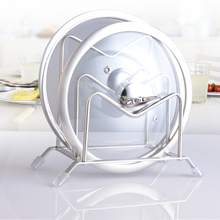 Two Layer Stainless Steel Pot Lid Shelf Cooking Storage Pan Cover Lid Rack Stand Cutting board Holder Kitchen Organizer Tools
