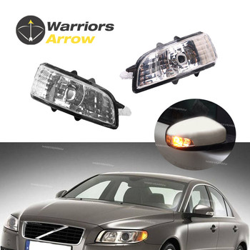 цена на 31111102 31111090 For Volvo S40 S60 S80 C30 C70 V50 V70 2007 2008 2009 L R Mirror Indicator Turn Signal Light Lamp Lens NO Bulb
