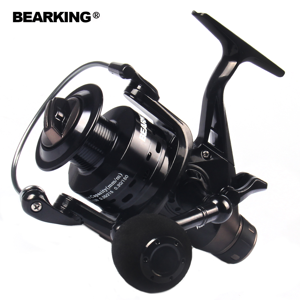 Bearking pesca doble freno carpa pesca alimentador 2017 Spinning Reel carrete de pesca de calidad 3000 4000 5000 6000