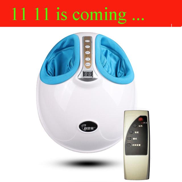 220 V elétrica Antistress massager do pé barato máquina de massagem nos pés dispositivo de cuidados com os pés com Aquecimento Infravermelho & Terapia adaptador DA UE