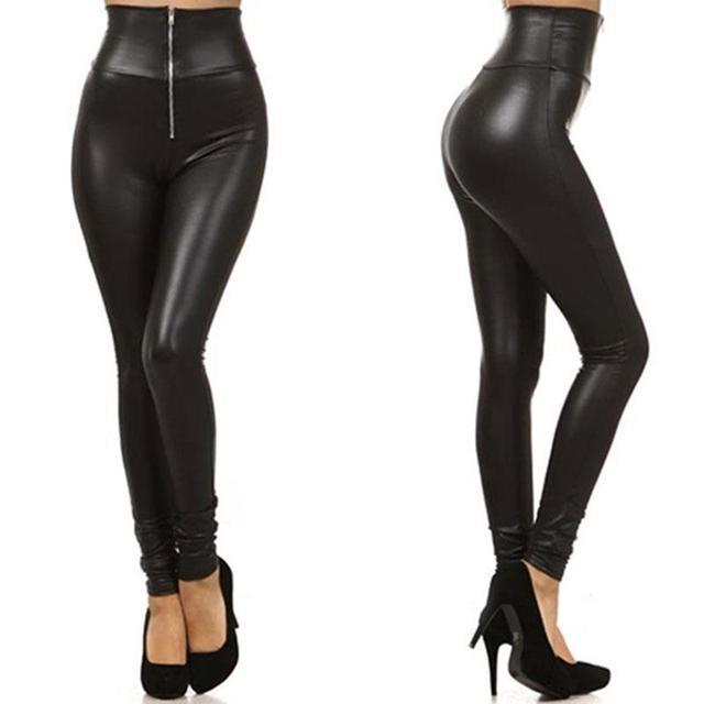 High Waist Zip Leggings