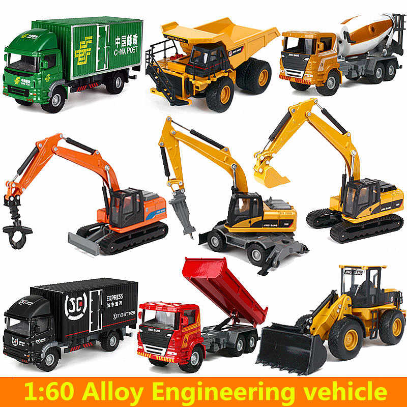 Alloy cars,1:60 alloy construction vehicles,Collection truck model,Diecast & Toy Vehicles,Excavators, trucks toy car,wholesale