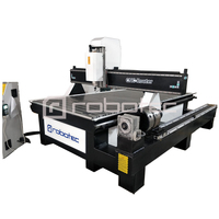 China Manufacturer Plywood Cnc Milling Machine Price For Sale/Heavy Duty Cnc Router 1325 With 4th Rotary Axis Wood CNC Machine