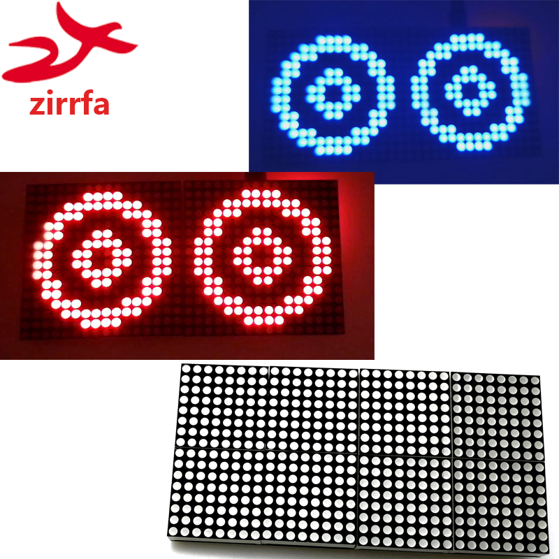 16x32 Led Dot Matrix Display Module Unlimited Cascading Red/green/blue Finished With Mcu