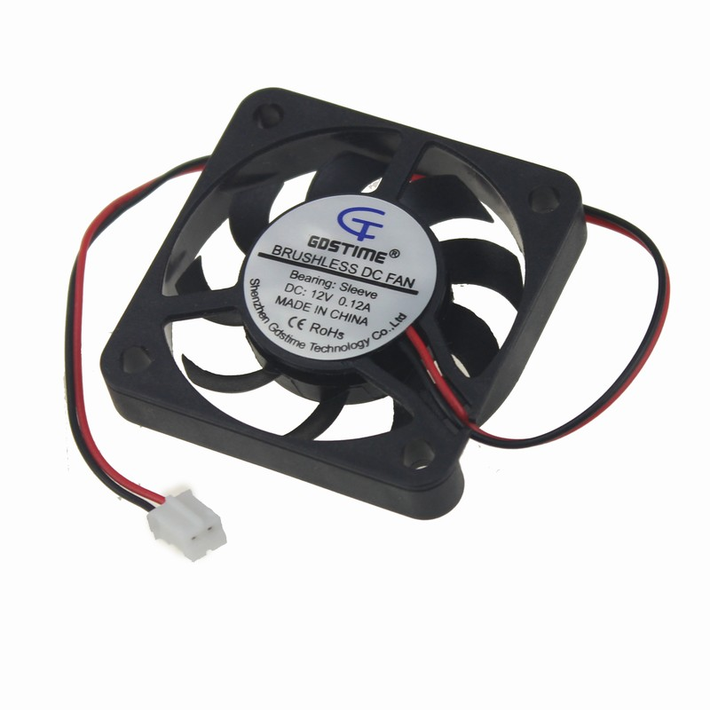 Gdstime 2 Pieces 40mm x 40mm x 7mm 4007 4cm Small 12V Brushless DC Cooling Cooler Fan 40x40x7mm 20 pieces lot gdstime 40mm 40 x 40 x 10mm 4010s dc 12v 2p brushless cooler cooling fan