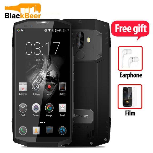 "Blackview BV9000 Smartphone 5.7 ""HD + מסך מגע 4GB + 64G ROM טלפון סלולרי מצלמה כפולה מהיר תשלום NFC טלפון נייד טביעת אצבע"