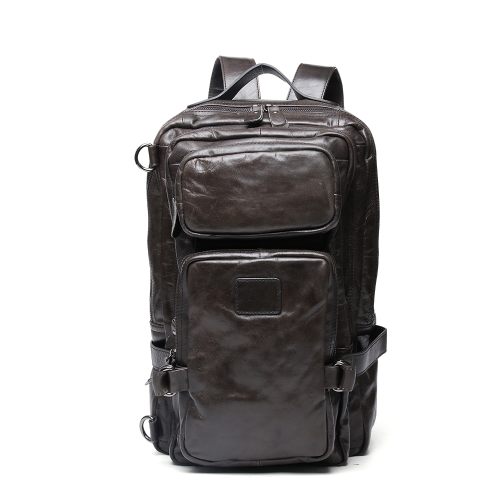 Luxury Fashion Cow Leather Men Backpack Man Cowhide Leather Causal Backpack Vintage Travel Bags For Men Genuine Leather BagLuxury Fashion Cow Leather Men Backpack Man Cowhide Leather Causal Backpack Vintage Travel Bags For Men Genuine Leather Bag