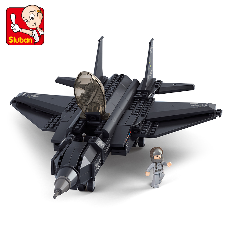 0510 SLUBAN Military Series USA Air Force F35 Fighter Model Building Blocks Enlighten Figure Toys For Children Compatible Legoe sluban military series nuclear submarine and service stations model building blocks toys for children compatible with legoe sets