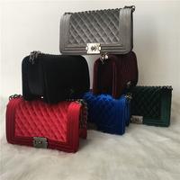 Brand Crossbody   Bags   Vintage Velvet Diamond Lattice Women   Bag   Designer Handbags Chain Ladies Women Messenger   Bag   bolsa feminina
