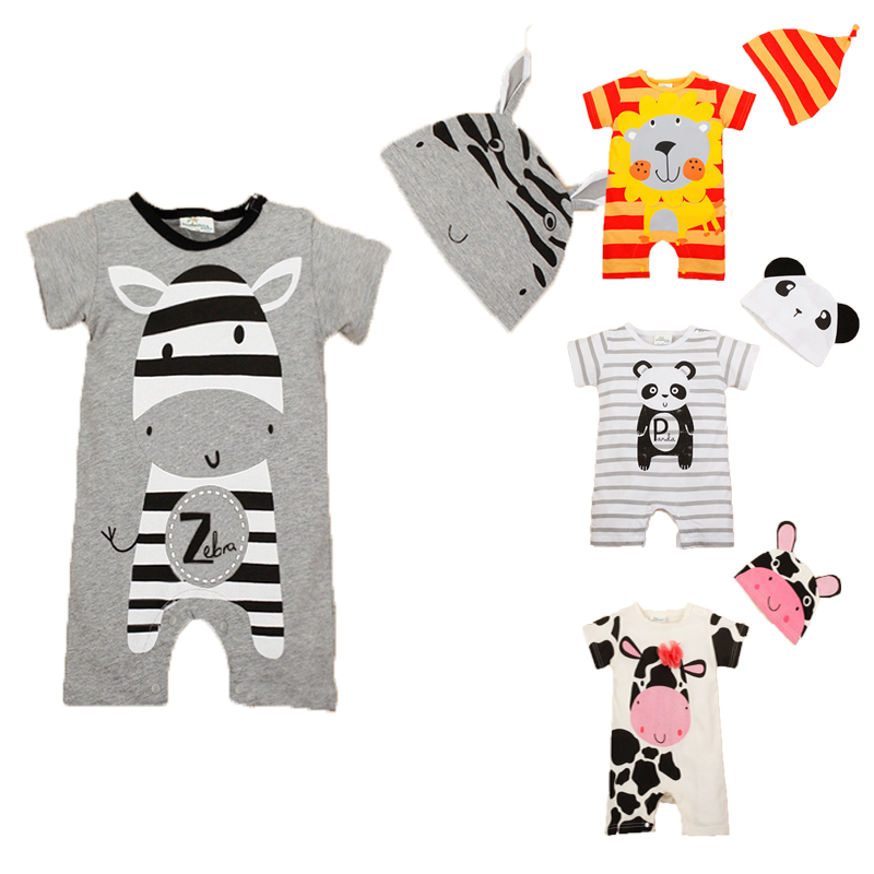 Summer Baby Rompers Baby Gril Clothing Sets Roupas Infantis Newborn Bebes Boys Costume Short Sleeve Brand Baby Boy Clothes baby girl clothes newborn clothing short sleeve heart minnie crown romper tutu dress headband 3pcs summer bebes clothes sets