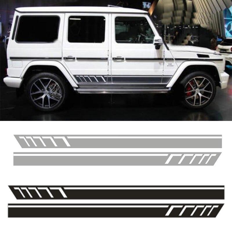 YongXun, Vinyl Auto Side Skirt Car Sticker Decal For Mercedes-Benz G500 G63 AMG 2 PCS da-ju78 yongxun car dual stripes racing for alfa romeo 147 156 159 166 giulietta vinyl decal side stickers da 9897
