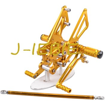 CNC Racing Rearset Adjustable Rear Sets Foot pegs Fit For Kawasaki NINJA ZX14R 2006 2007 2008 2009 2010 2011 GOLD