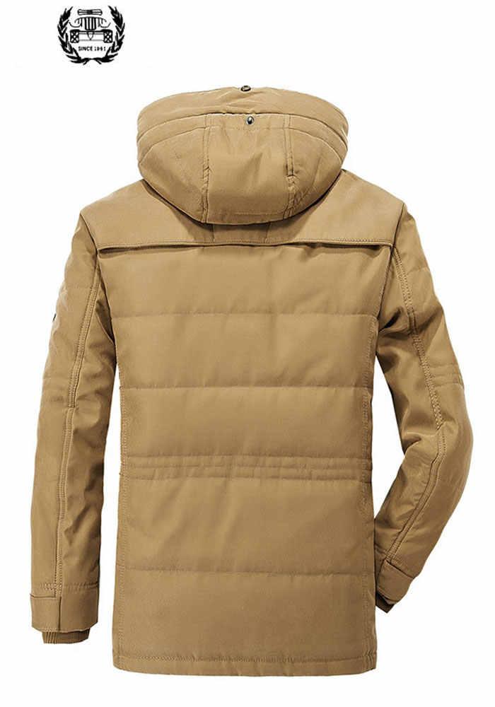 Afs ジープ冬パーカー男性厚いコートジャケット 5XL 〜 6XL カジュアルファッション暖かいマルチポケットドロップ無料ブランド服ジャケットコート