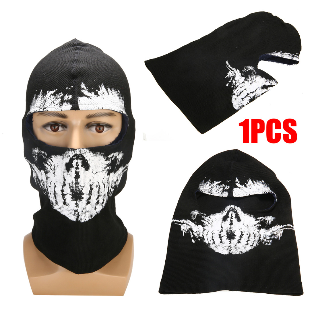 1PC Motorcycle Balaclava Ghost Skull Mask Cycling Full Face Airsoft Game Cosplay Mask Headgear For Riding Skiing Outdoor Sports-in Motorcycle Face Mask from Automobiles & Motorcycles
