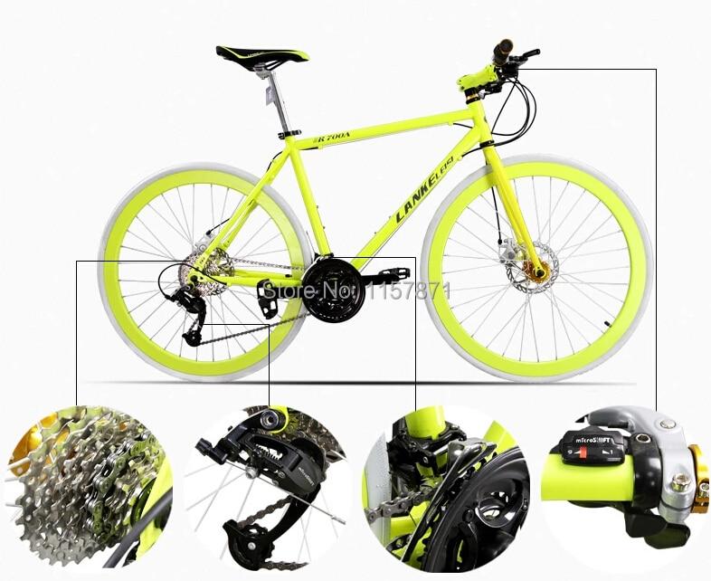 Azules R700A noche Luminus Bicicletas alta densidad de carbono marco ...