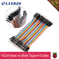 free shipping 40PCS 10CM 2.54MM Row Male to Male Dupont Cable Breadboard Jumper Wire For arduino