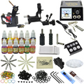 New 2015 Complete tattoo kit & 2 gun machine tattoo power supply & needles ink tip MC-KIT-A2004 10-0068