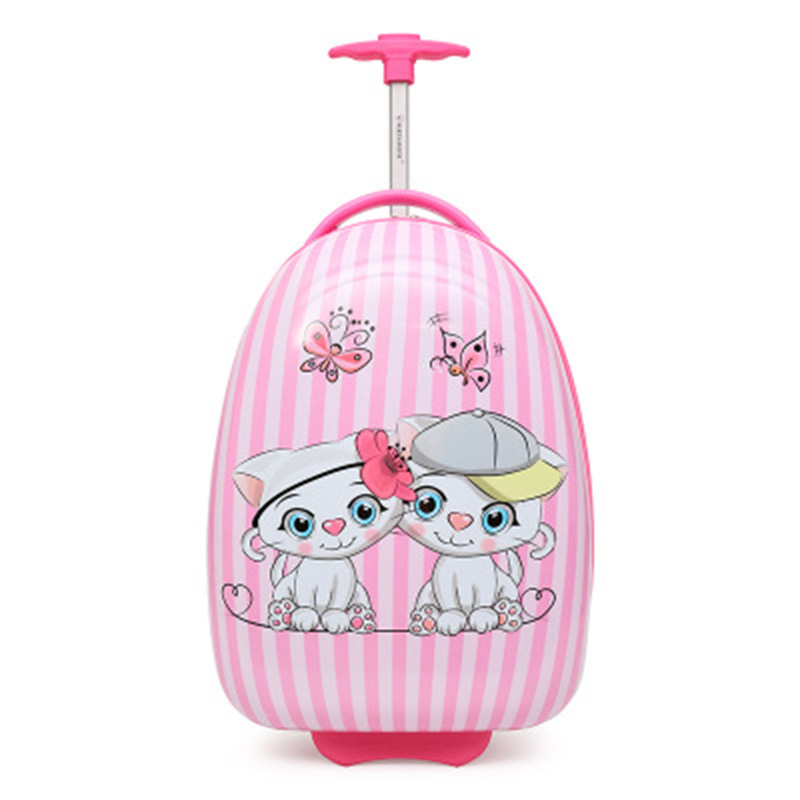 New high with children 39 s trolley case front and rear double sided pattern cartoon children 39 s travel trolley case scroll wheel in Rolling Luggage from Luggage amp Bags