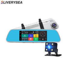 SLIVERYSEA 3G Car Dvr Android 5.0 Camera 7 Touch Screen GPS Video Recorder Bluetooth Wifi Rearview Mirror Dash Cam Dvrs