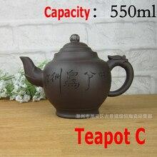 Cinco estilo auténtica tetera de yixing olla grande capacidad ceramics arcilla juego de té tetera de kung fu tetera ceremonia del té chino