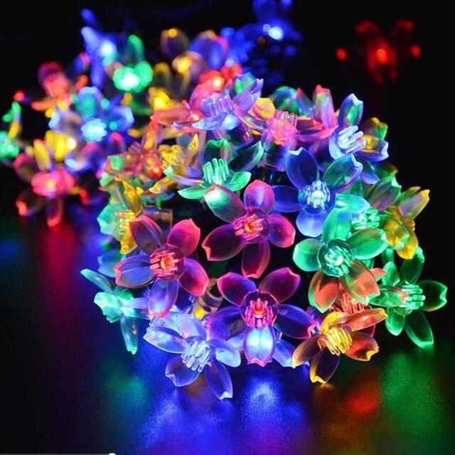 Solar Fairy Holiday String Lights 21ft 50 LED Multi-color Gardens Christmas Trees Halloween Lights  sc 1 st  AliExpress.com & Solar Fairy Holiday String Lights 21ft 50 LED Multi color Gardens ...